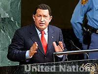 Photo: Venezuelan President Hugo Chavez at the U.N.