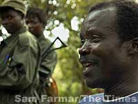 Photo of Joseph Kony, leader of the Lord's Resistance Army in Uganda, by Sam Farmar.