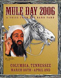 Tennessee Mule Day a Bin Laden Target